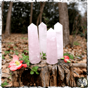 Rose Quartz Crystal Obelisk, Self Love, Acceptance, Crystals for Witches, The Witch's Guide