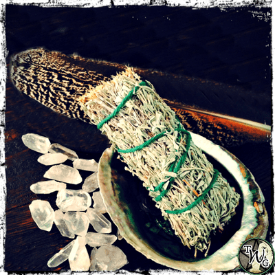 Sage & Sweetgrass Herbal Smudge Bundle | High Vibes, Purification