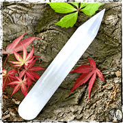 Selenite Crystal Massage Wand, Energy Healing, The Witch's Guide
