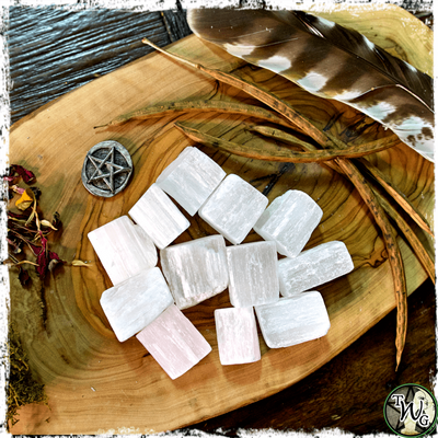 Selenite Crystals, Raw, Spirit Guide Communication, Balance, Healing, The Witch's Guide