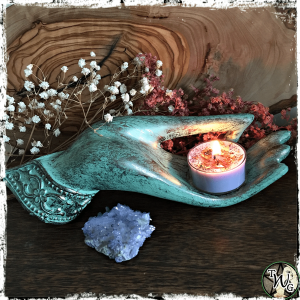 Serenity Tealight Candle Holder, Blessings, Enlightenment, The Witch's Guide