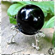 Silver Crystal Ball Stand, Holder, The Witch's Guide,