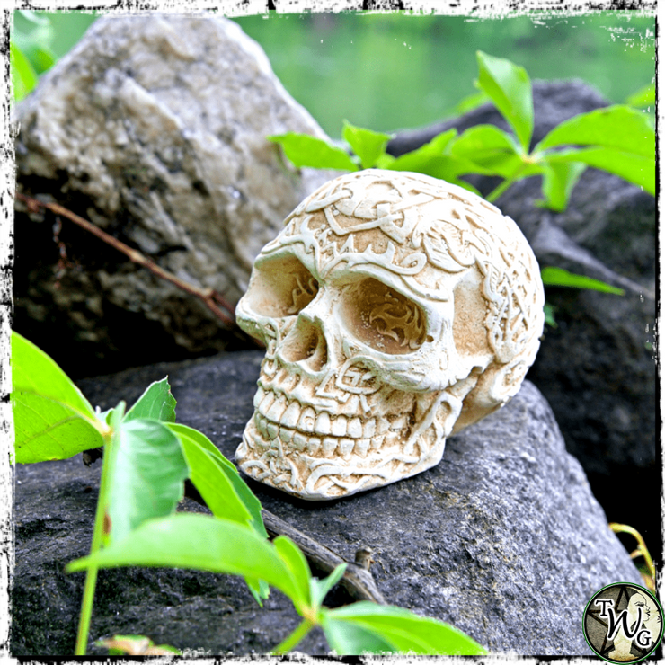 Ornate Ritual Skull, Samhain Sabbat, The Witch's Guide