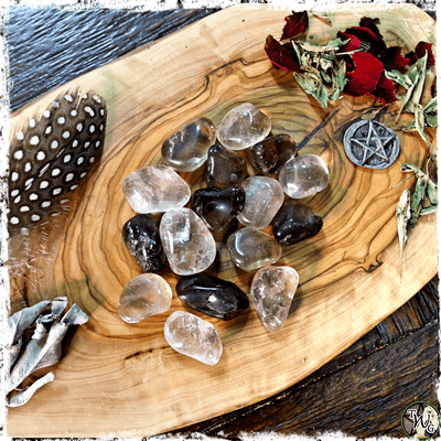 Tumbled Smoky Quartz for EMF Protection, Grounding Stone, The Witch's Guide