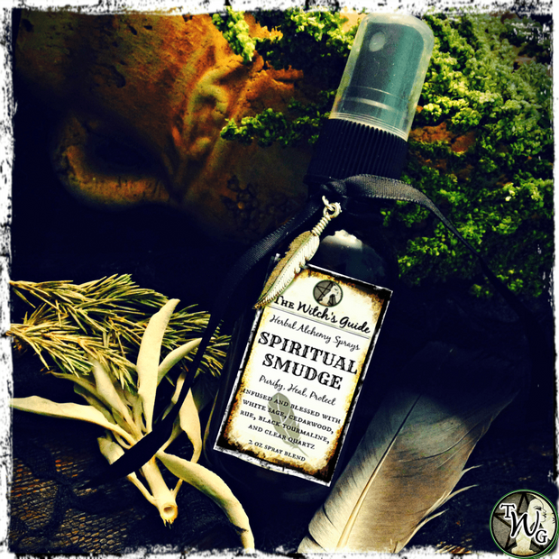 Spiritual Smudge | Herbal Alchemy Spray | Purification, Protection