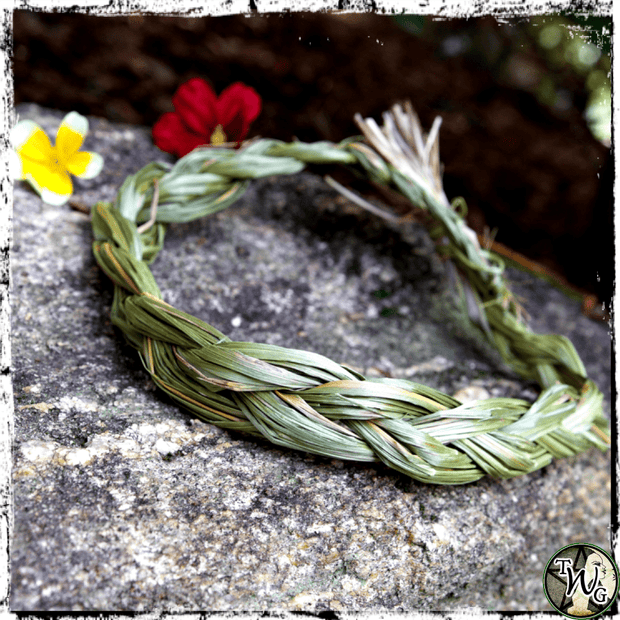 Sweetgrass Herbal Smudge Braid, The Witch's Guide