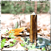Tiger's Eye Crystal Obelisks, Protection, Motivation, Strength, Crystal Tower, Crystal Generator