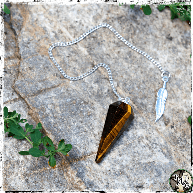 Crystal Pendulum, Tiger's Eye, The Witch's Guide