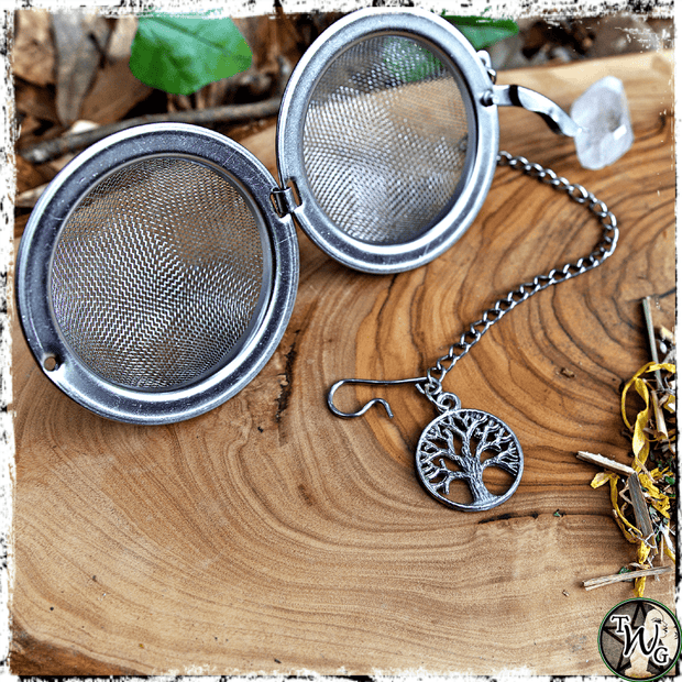 Tree of Life Symbol, Tea Ball Strainer, Herbal Tea Accessory, The Witch's Guide