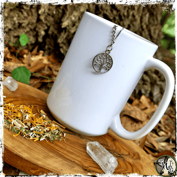 Tea Ball Strainer with Tree of Life Charm, The Witch's Guide