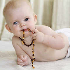 baby chewing amber Necklace