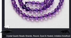 Fake Imitation Amethyst Beads