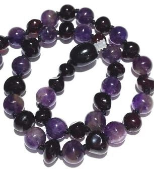 Genuine Amethyst Beads Blackberry Love Amber x Teething Jewellery