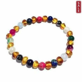 Adult Aida Baltic Amber Gemstones Stretch Bracelet Jewellery / Bracelets / Beaded Bracelets Love Amber X