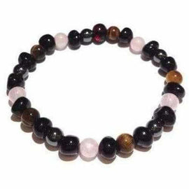 Adult Bailey Gemstone and Cherry Baltic Amber Bracelet Anxiety Support Jewellery / Bracelets / Beaded Bracelets Love Amber X