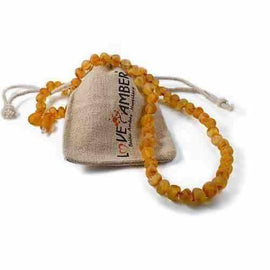 Adult Bees Knees Raw Honey Baltic Amber Necklace Jewellery / Necklaces / Beaded Necklaces Love Amber X