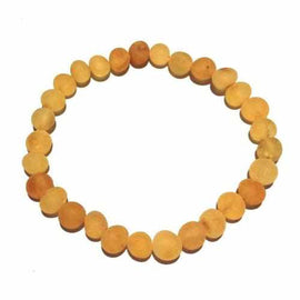 Adult Bees Knees Raw Honey Baltic Amber Stretch Bracelet Jewellery / Bracelets / Beaded Bracelets Love Amber X