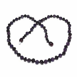 Adult Blackberry Cherry Baltic Amber Amethyst Necklace Jewellery / Necklaces / Beaded Necklaces Love Amber X
