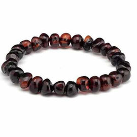 Adult Blackforest Cherry Baltic Amber Stretch Bracelet