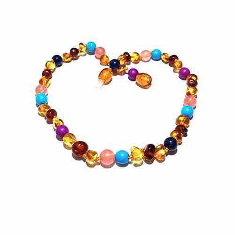 Adult Blossom Honey Baltic Amber Purple Howlite Lapis Lazuli Quartz Bracelet Jewellery / Bracelets / Beaded Bracelets Love Amber X