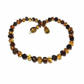 Adult Bramley Polished Green and Honey Baltic Amber Anklet Love Amber X