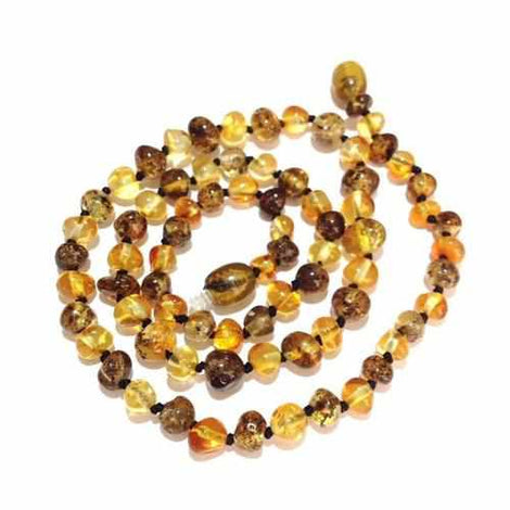 Adult Bramley Polished Green and Honey Baltic Amber Necklace Jewellery / Necklaces / Beaded Necklaces Love Amber X