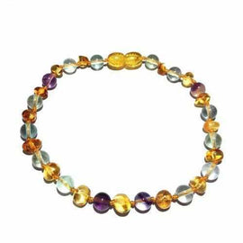 Adult Brigid Honey Baltic Amber Fluorite Anklet Jewellery / Body Jewellery / Anklets Love Amber X