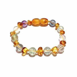 Adult Brigid Honey Baltic Amber Fluorite Bracelet Jewellery / Bracelets / Beaded Bracelets Love Amber X