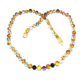 Adult Brigid Honey Baltic Amber Fluorite Necklace Love Amber X