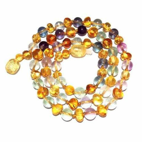 Adult Brigid Honey Baltic Amber Fluorite Necklace Jewellery / Necklaces / Beaded Necklaces Love Amber X