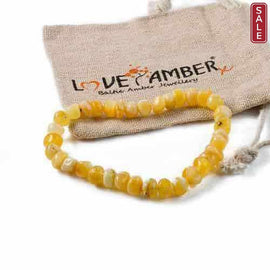 Adult Butterscotch Ambrosia Baltic Amber Stretch Bracelet Jewellery / Bracelets / Beaded Bracelets Love Amber X