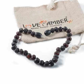 Adult Cherryaid Raw Cherry Baltic Amber Anklet Jewellery / Body Jewellery / Anklets Love Amber X