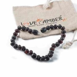 Adult Cherryaid Raw Dark Cherry Black Baltic Amber Bracelet Love Amber X