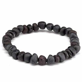 Adult Cherryaid Raw Dark Cherry Baltic Amber Stretch Bracelet Love Amber X