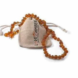 Adult Cocoa Raw Cognac Baltic Amber Anklet Love Amber X