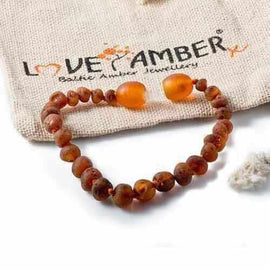 Adult Cocoa Raw Cognac Baltic Amber Bracelet Jewellery / Bracelets / Beaded Bracelets Love Amber X