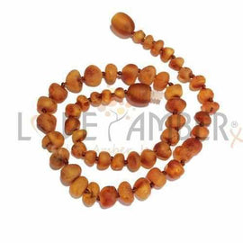 Adult Cocoa Raw Cognac Baltic Amber Necklace Love Amber X