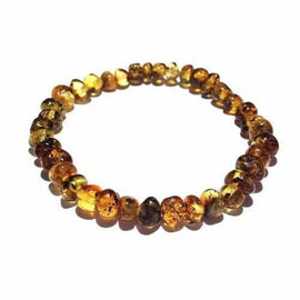 Adult Earthy Rare Green Baltic Amber Stretch Bracelet Love Amber X