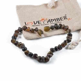 Adult Enchanted Raw Green Baltic Amber Bracelet Jewellery / Bracelets / Beaded Bracelets Love Amber X