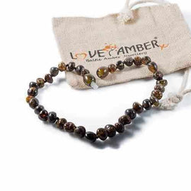Adult Evergreen Polished Green Baltic Amber Anklet Jewellery / Body Jewellery / Anklets Love Amber X