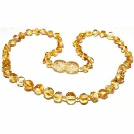 Adult Goldirocks Polished Lemon Baltic Amber Necklace Jewellery / Necklaces / Beaded Necklaces Love Amber X