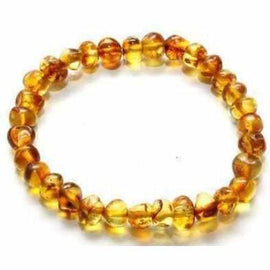 Adult Honeypot Honey Baltic Amber Stretch Bracelet Jewellery / Bracelets / Beaded Bracelets Love Amber X