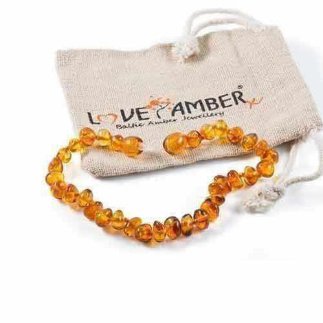 Adult Honeypot Polished Honey Baltic Amber Anklet Love Amber X