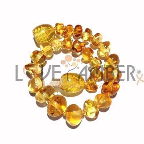 Adult Honeypot Polished Honey Baltic Amber Bracelet Jewellery / Bracelets / Beaded Bracelets Love Amber X