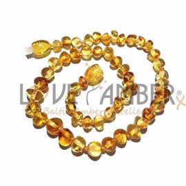 Adult Honeypot Polished Honey Baltic Amber Necklace