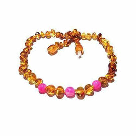 Adult Honeysuckle Polished Honey Baltic Amber Pink Agate Anklet Jewellery / Body Jewellery / Anklets Love Amber X