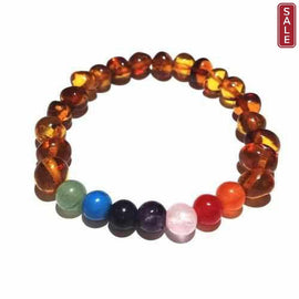 Adult Jellybean Polished Honey Baltic Amber Gemstone Stretch Bracelet Love Amber X
