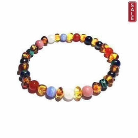 Adult Lucina Baltic Amber Pregnancy Gemstones Stretch Bracelet Love Amber X