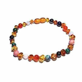 Adult Lucina Honey Baltic Amber Pregnancy Gemstones Anklet Jewellery / Body Jewellery / Anklets Love Amber X