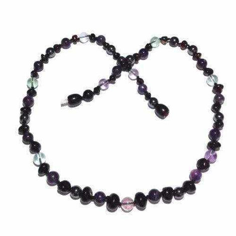 Adult Midnight Eirene Cherry Baltic Amber Gemstones Necklace Jewellery / Necklaces / Beaded Necklaces Love Amber X